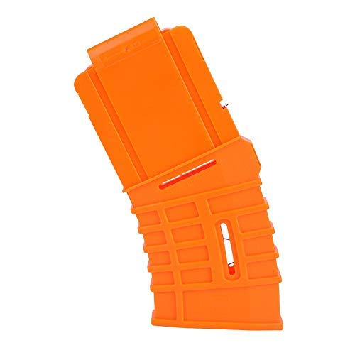 Tbest Clip de Bala Suave Darts Bullet Clips, 10 Dardos Recarga Rápida Clip Soft Bullet Reemplazo de Soporte de Clip de Revista para Elite Serie Accesorio de Pistola de Juguete, Naranja