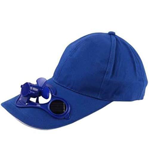 sombrero Moda Sombra del Ventilador Solar Nuevo Ventilador eléctrico del radiador Solar...