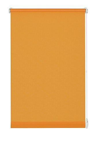 GARDINIA Rollo zum Klemmen oder Kleben, Tageslicht-Rollo, Blickdicht, Alle Montage-Teile inklusive, EASYFIX Rollo Uni, Orange, 100 x 150 cm (BxH)