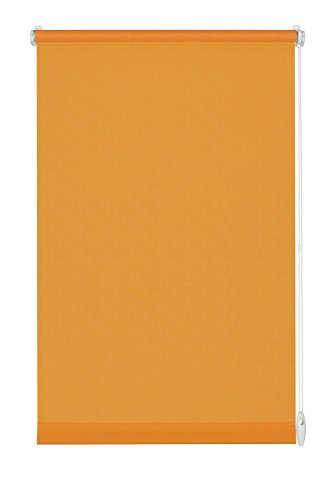 GARDINIA Rollo zum Klemmen oder Kleben, Tageslicht-Rollo, Blickdicht, Alle Montage-Teile inklusive, EASYFIX Rollo Uni, Orange, 90 x 210 cm (BxH)