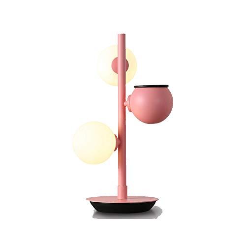 skoy iyue Lampada da Tavolo A LED Nordic Ball Semplice Soggiorno Camera da Letto Studio Studio creatività,Pink