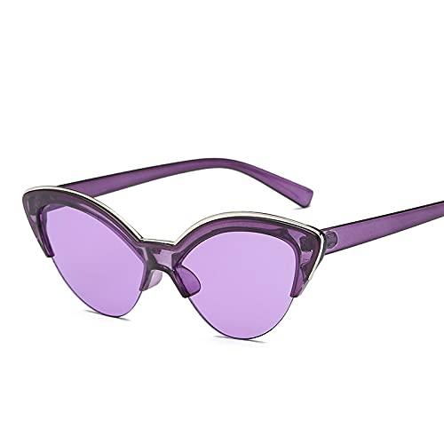 ShSnnwrl Único Gafas de Sol Sunglasses Gafas De Sol De Ojo De Gato con Diseño De Mariposa para Mujer, Gafas De Sol Azules A La Mo