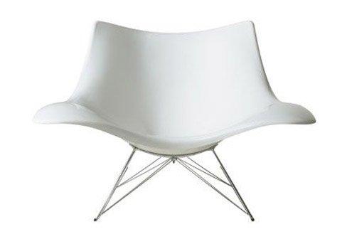 Schaukelstuhl Stingray / Thomas Pedersen / Fredericia Furniture / Kunststoffsitzschale in weiß / DesignKlassiker von Klingenberg