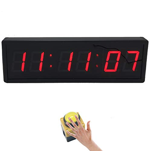 BTBSIGN 2.3inch Digital Countdown Wall Clock Large Stopwatch with Remote and Switch Button for Obstacle Racing