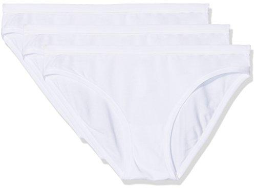 POMPEA Cotton Slip, Bianco (Bianco 0024), 44 (Taglia Produttore:3) (Pacco da 3) Donna