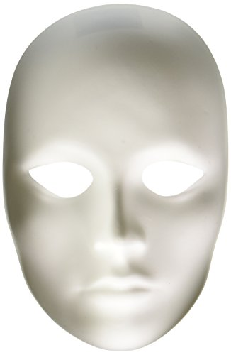 Creativity Street Plain Plastic Feminine Mask,white - 4201