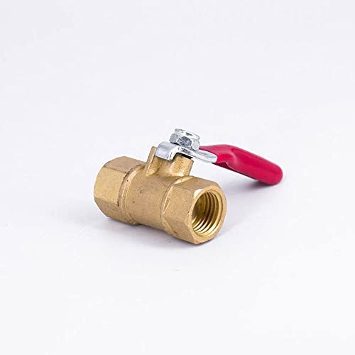 RAKLEVER 1/4' NPT Female Male Mini Brass Ball Valve Tap Water Gas Fuel Air For Air compressor Home Garden (Specification: 1/4', Voltage: Female To Male, Wiring Control: NPT)