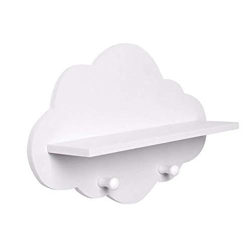 GAKIN Estante flotante de madera con forma de nube para colgar en la pared