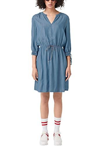 Q/S designed by - s.Oliver Damen 46.904.82.2456 Kleid, Blau (Denim Blue 57y4), (Herstellergröße: 38)