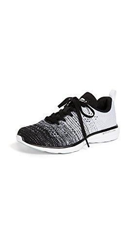 APL: Athletic Propulsion Labs Women's Techloom Pro Sneakers, Black/Heather Grey/White, 10 Medium US