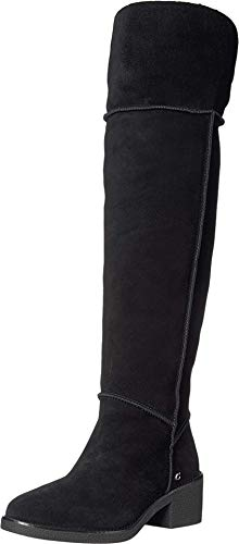 COACH Janelle Boot Black/Black Mixed Material 6.5