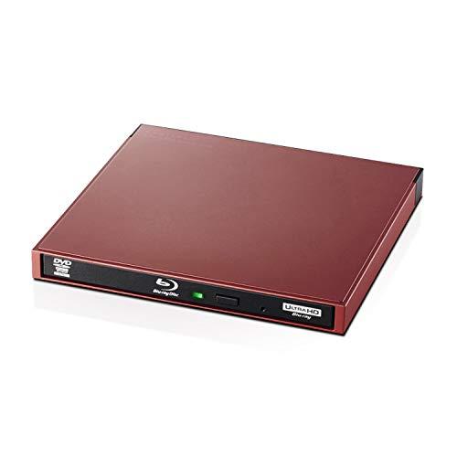 エレコム Blu-rayディスクドライブ USB3.0/スリム 書キ込ミソフト付 UHDBD対応 レッド LBD-PWA6U3LRD