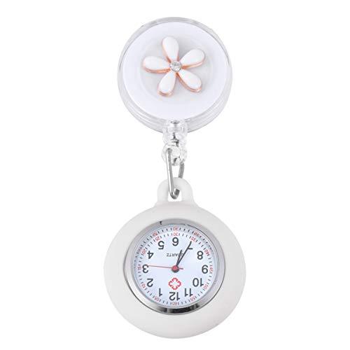 NICERIO Reloj de Enfermera Reloj de Enfermera Colgante con Clip Médico Enfermera Reloj de Solapa Reloj de Bolsillo Reloj de Bolsillo con Segundero para Enfermera
