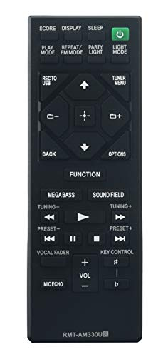 RMT-AM330U Replaced Remote fit for Sony Home Audio MHC-V21 MHC-V50 MHC-V77W MHC-V90W SA-V90W SS-V90W SHAKE-X10 HCD-SHAKE10 SS-SHAKE10 SHAKE-X30 HCD-SHAKE30 SS-SHAKE30 1-493-294-11 MHC-V02 MHC-V71