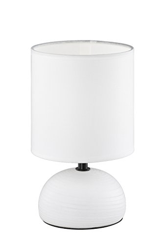 Reality Leuchten r50351001, lampada da tavolo, in ceramica, bianco, 14.0 x 14.0 x 23.0 cm
