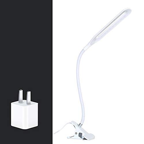 DUANJ Klemmleuchten Clip Lights Leselampe Eye Care Desk Clamp Lamp mit flexiblem Schwanenhals und Berührungssensor zum Lernen,Lesen,Malen,Schreiben