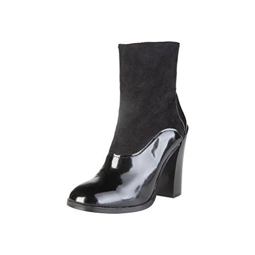 VERSACE V-1969 Damen Stiefeletten Stiefel Ankle Boots Cordelie, Schwarz, EU 36-41 (EUR 36)