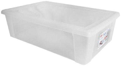 Stefanplast Visualbox - Contenitore multiuso con chiusura a scatto, 30 L, Trasparente, XXL - 59 x 39 x 17 cm