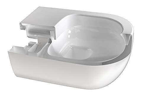 Design Hänge WC Spülrandlos Toilette inkl. WC Sitz mit Softclose Absenkautomatik + abnehmbar kurz - 2