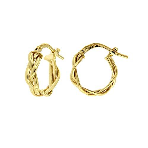 Pendientes de oro de 18 quilates en forma de trenza Dea Aita
