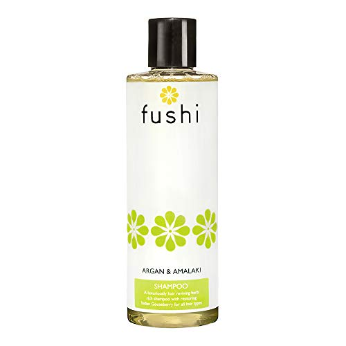 Fushi Argan & Amalaki Shampoo 250ml | Best for Dry Hair, Scalp Soothing, Nourishing | Fresh, Cold Pressed, Unrefined Oils | Ayurvedic Herb Enriched, Triple Infused | Ethical, Vegan & Made in The UK