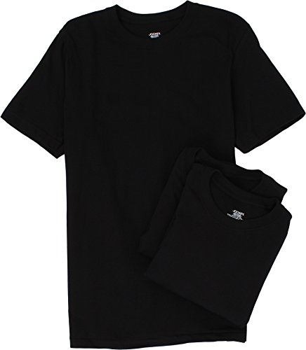 Jockey Men's Cotton V-Neck T-Shirt 3-Pack Black T-Shirt SM