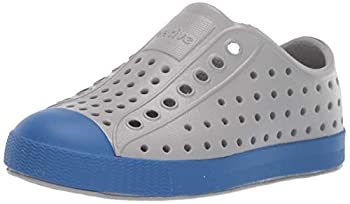 Native Shoes Boy s Jefferson  Little Kid  Pigeon Grey/Victoria Blue 3 Little Kid M