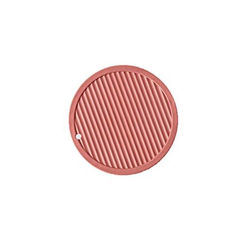 nimabi Alfombrilla De Silicona Redonda Multifuncional Resistente Al Calor Posavasos Antideslizante Soporte De Olla Mantel De Mesa Accesorios De Cocina Rojo B