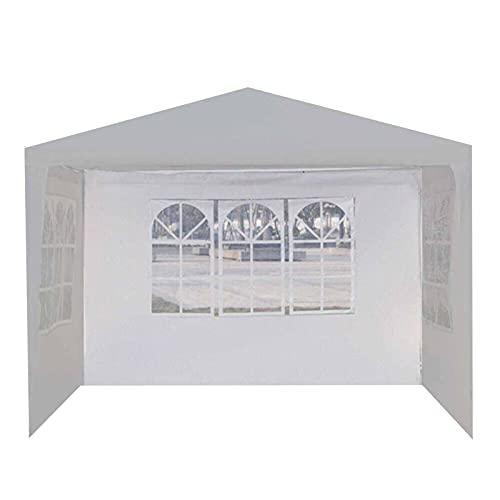Bomoya Tienda de campaña portátil al aire libre tela impermeable extraíble plegable diseño de paredes laterales con ventana solo una pared lateral comercial instantánea toldos tienda de fiesta