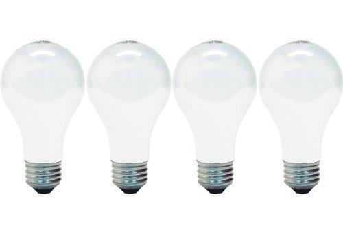 GE Lighting 66247 Energy-Efficient Soft White 43-Watt, 620-Lumen A19 Light Bulb with Medium Base, 4-Pack