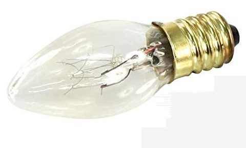 10x Mini Kerzen Glühlampe Birne Deko Kerze E14 10Watt klar 230 Volt