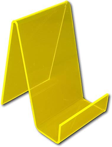 GDFS-Displayständer, mittlerer Kunststoff-Acryl-Plexiglas-Exlibris-Displayständerhalter - Perfekt für Schulen, Bibliotheken usw, Helios Yellow