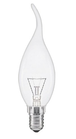 Preisvergleich Produktbild 10 x Glühlampe Glühbirne Kerze Windstoß 40W 40 Watt E14 klar Glühbirnen Glühlampen Glühbirne Glühlampe