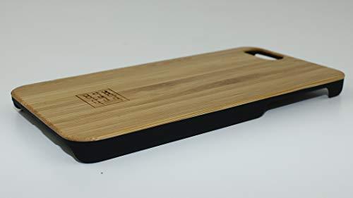 sachentransporter Custodia in legno di bambù originale per iPhone 6 / iPhone 6s / vero legno / UNIKAT / fatta a mano / su misura per iPhone / cover nera