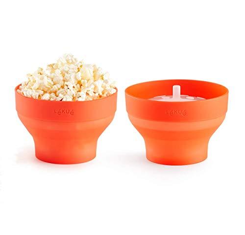Lékué Set 2 Mini Pop Corn para Preparar Palomitas en microondas, Silicona