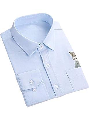 DOKKIA Women's Tops Cute Casual Blouses Long Sleeve Work Button Down Dress Shirts