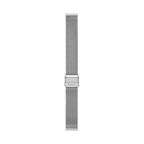 Fossil - Brazalete de Malla de Acero Inoxidable de 16 mm para Mujer, S161073
