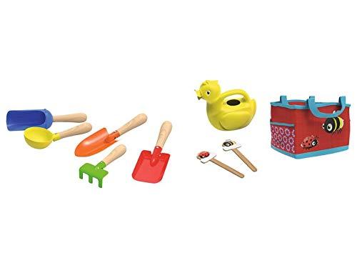 Playtive kindertuinslang, 9-delig, gieter, schep, etc, tuintas in rood