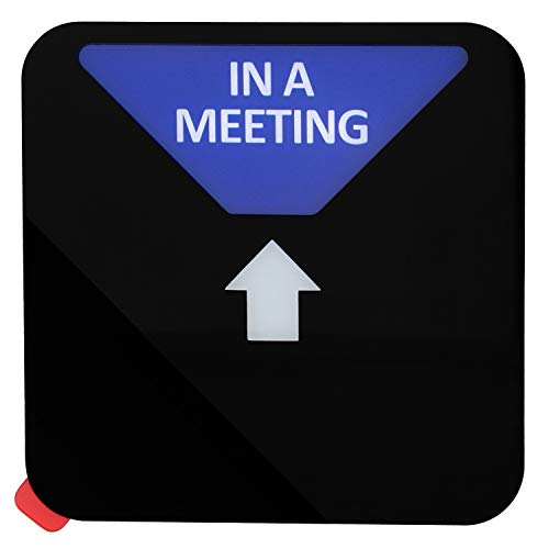 Kichwit Privacy Sign, Do Not Disturb Sign, Out of Office Sign, Please Knock Sign, In a Meeting Sign, Office Sign, Conference Sign for Offices, Squared Shaped, 4.9 Inch, Black Photo #2