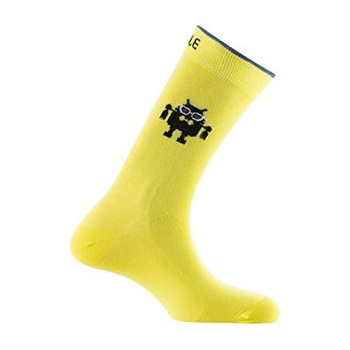 ACHILE - Calcetines de algodón para mujer, color - amarillo - Talla - 39-46
