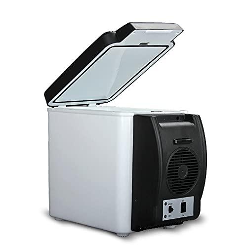 Nevera Y Congelador De Compresor Portátil, 6 litros Refrigerados A 15-20 ° C Menos Que El Ambiente De Enfriamiento Calentado A 65 °c Adecuado para Automóviles Camiones Barcos Y Vehículos Recreativos