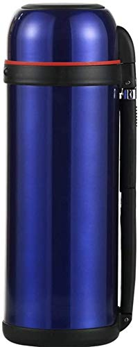 ZCRR Jarra de vacío de 2 litros, olla aislante, acero inoxidable 304, gran capacidad, portátil, taza de viaje al aire libre (color: azul)