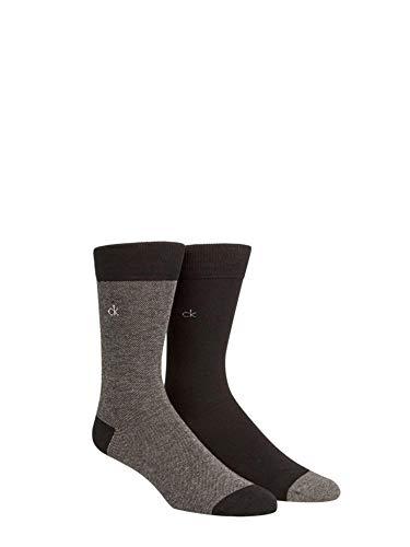 Calvin Klein Underwear ECF178-2PK-CALZE Socken Harren 00-Schwarz M/L
