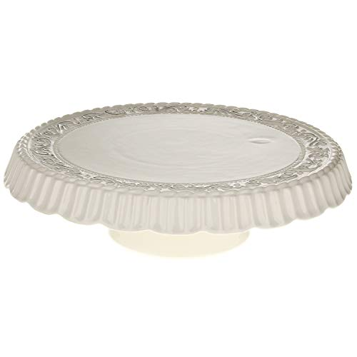 MACOSA - Plato para tartas con pie (30 cm de diámetro)