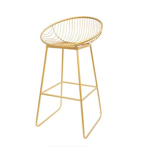 Chqyz Möbel & Wohnaccessoires Stuhl nordischer schmiedeeiserner Goldfarbener Metallstuhl (optional in Zwei Farben) Schlafzimmer (Farbe : Gold, größe : 72cm)