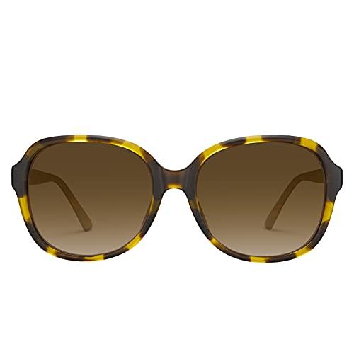 Carfia Gafas de sol de gran tamaño para mujer protección UV polarizada para conducir viajar al aire libre