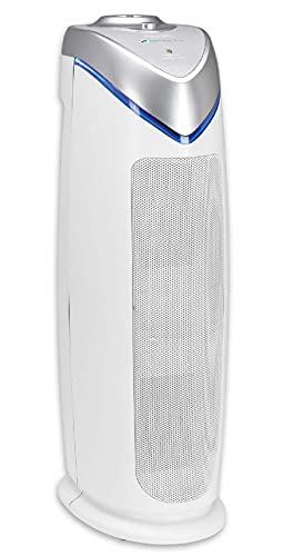 Guardian Technologies Germ Guardian HEPA Filter Air Purifier, UV Light Sanitizer, Eliminates Germs, Filters Allergies, Pollen, Smoke, Dust, Pets Mold Odors, 22 In 4-in-1 Air Purifier for Home AC4825W