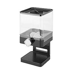 powerful Zevro Compact Dry Food Dispenser, Individual Control, Black / Chrome