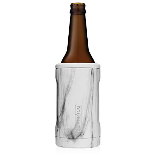 BrüMate Hopsulator BOTT'L Double-walled Stainless Steel Insulated Bottle Cooler for 12 Oz Bottles (Carrara)