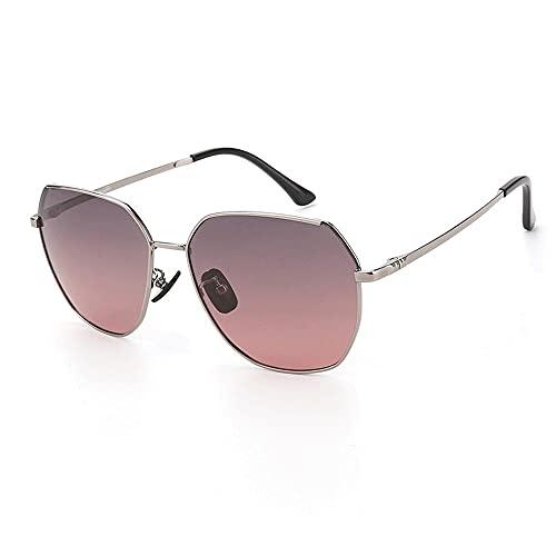 Poligonal Anti-UV Gafas De Sol para, Hombres Moda ProteccióN para ConduccióN Gafas De Deportes Al Aire Libre De Pesca De Moda Regalo De San ValentíN (Color : Gray Powder)